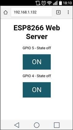 In this project you'll create a standalone web server with an ESP8266 that can toggle two LEDs using Arduino IDE. This ESP8266 Web Server is mobile responsive and it can be accessed with any device that as a browser in your local network.