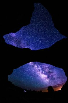 The Milky Way seen through the Double Arch , Arches National Park, Utah
