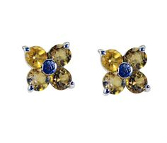 Silver Earring Citrine Earring Yellow  Earring Silver Earring holiday gift SECIT-14040 by RiyoGems