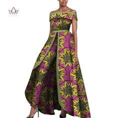 African Design Bazin Off Shoulder Elegant Women's Rompers Sleeveless Long Dashiki Pants Traditional African Clothing, Traditional Outfits, African Wear, African Dress, Rompers Women, Jumpsuits For Women, Trendy Ankara Styles, Designer Jumpsuits, Latest African Fashion Dresses