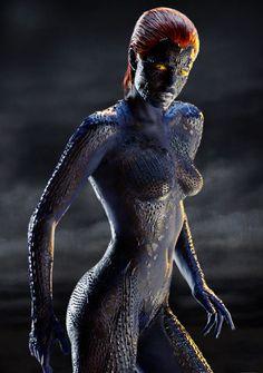 x men mystique | X2: X-Men United, Rebecca Romijn | 10 Sexiest Superhero Movie Costumes ... Marvel Comics, Marvel Dc, X Men, Comic Art, Comic Pics, Comic Books, Comic Movies, Baristas, Female Characters
