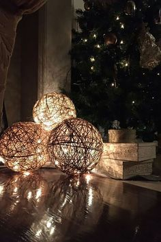 No need to buy those twine balls sold in craft stores—you can easily make your own with some balloons, twine, and Mod Podge. Once you're done, insert a string of lights inside, and you've got yourself a stunning holiday decoration. Get the tutorial at Mucho Crafts.