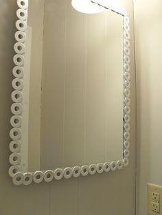 Updating a Boring Bathroom Mirror