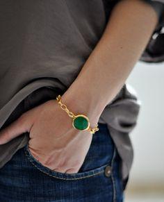 spring fashion emerald green stone gemstone by YUNILIsmiles, $43.00
