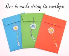 How to make a string tie envelope. 15 minute project.