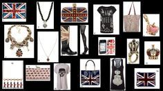 various designers, lulu guiness Union Jack clutch