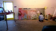 """""""I believe very strongly that if you're not in your studio physically most every day, you've denied the possibility of anything happening."""" Susan Rothenberg in her studio, New Mexico, 2004. Production still from the ART21 """"Art in the Twenty-First Century"""" Season 3 episode, """"Memory,"""" 2005. © ART21, Inc. 2005."""