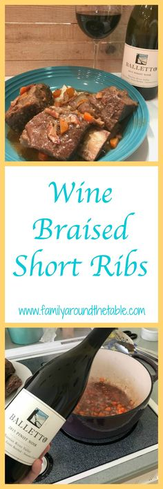 Wine braised short ribs are mouth watering good. One Pan Dinner Recipes, Dinner Casserole Recipes, Instant Pot Dinner Recipes, Best Beef Recipes, Wine Recipes, Yummy Recipes, Dinner Sandwiches, Braised Short Ribs, Food Dishes