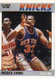 1997-98 Fleer Decade of Excellence #3 Patrick Ewing by Fleer. $6.10. 1997 Fleer Inc. trading card in near mint/mint condition, authenticated by Seller
