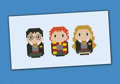 Harry Potter Harry Ron and Hermione PDF cross door cloudsfactory, $4.00