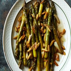 Asparagus with Toasted Almonds and Garlic Recipe - Grace Parisi | Food & Wine