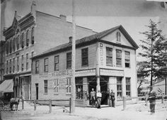 M.V.B Finefrock's Drug & Prescription store Mansfield OH 1890's Apparently sat at E 4th St and N Main St.