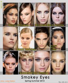 Smokey eye #makeup trend for Spring Summer 2013.
