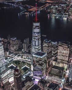 Lower Manhattan at night by Marco Degennaro Photography