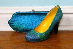 Como dar um novo visual ao sapato com glitter
