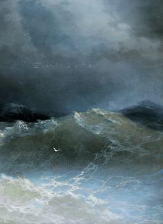 Ivan Aivazovsky, Waves (detail), 1849