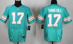 Miami Dolphins #17 Ryan Tannehill Aqua Green Alternate 2015 NFL Nike Elite Men's Jersey