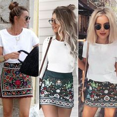 Inspiration #bohemiansoul #bohemianstyle #skirt #tshirt #white