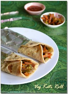 Vegetable Kati (Indian Flat Bread) Roll this HAS to be incorporated into our wedding at some point