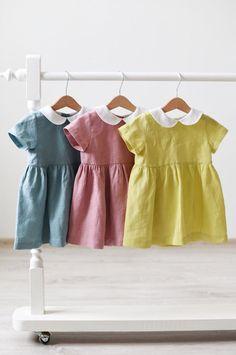 Handmade Vintage Style Linen Baby Toddler Dresses   TsiomikKids on Etsy