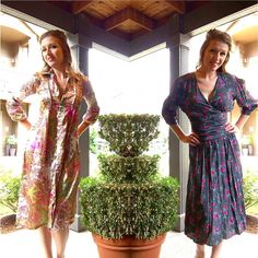 Found these beauties out #picking today too!  #vintage #dress #floral #mod