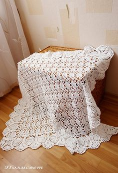 Ravelry: Exquisite Baby Afghan pattern by Terry Kimbrough Baby Afghan Crochet Patterns, Crochet Bedspread, Crochet Quilt, Baby Blanket Crochet, Crochet Afghans, Baby Girl Crochet, Crochet Baby Booties, Baby Shawl, Baby Afghans
