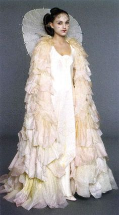 Queen Padme Amidala- Phantom Menace.  Each little fabric flab on the cape was sewn on by hand.