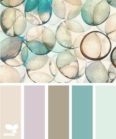 Glass stones color pallet.