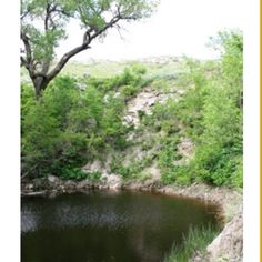 St. Jacob's Well near Minneola, Kansas, located in the Big Basin. This natural 'Sinkhole' has never been known to go dry.