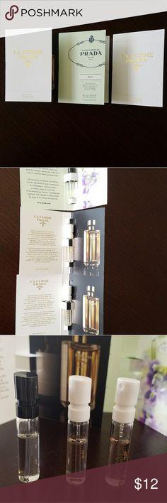 PRADA 3 eau de parfum samples Brand new,  Prada 3 eau de parfum samples. 2 samples of La Femme, and one sample of Prada- Iris. Sephora Makeup