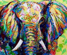 Danny Amazonas The powerful; elephant is a gorgeous art quilt. The color choices are wonderful to me.
