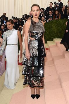 Brie Larson in Proenza Schouler on the definitive Met Gala Best Dressed list.
