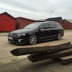 Black Passat b6 Rotiform wheels