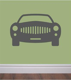 Giant car wall decal - your little car enthusiast will LOVE this on Etsy, $25.00