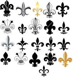 Fleur- de-Lis vector image on VectorStock Tatoo 3d, I Tattoo, Fluer De Lis Tattoo, Logo Fleur, Geniale Tattoos, Coat Of Arms, Vector Art, Celtic, Body Art