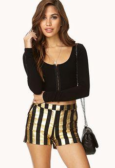 Striking Striped Shorts   FOREVER21 - 2000090069