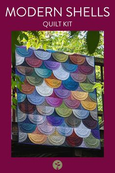 """These Gem Stones Fabrics are what make this gorgeous Modern Shells Quilt pop! Kit comes with these exact fabrics but does not include the Classic Curves Ruler. There is NO Pattern for this design. Quilt Size: 53"""" x 75"""". Skill Level: Advanced. #quilting #shellsquilting #quiltkit Girls Quilts, Quilt Sizes, Gem Stones, Shells, Kit, Classic, Modern, Fabric, Pattern"""
