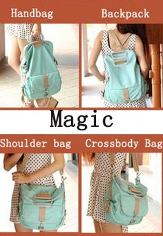 Unique Fresh Multifunction Light Blue Nice Backpack &Handbag, Secretshop on luulla.com