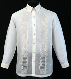 Jusi Barong Tagalog #1022    Ease into a more traditional Barong Tagalog for instant character and style.        Straight collar, cuff buttons      Full-open front      Classic Formal fit      High-quality 100% Jusi Fabric    Price:  $69.99