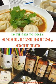 Columbus, Ohio has so many cool things to do, but here are 10 we think you will enjoy! Restaurants For Birthdays, Drinking Around The World, Tasty, Yummy Food, Fun Cocktails, Drinks, Best Places To Eat, Abandoned Castles, Abandoned Mansions