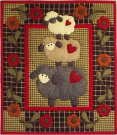 Wooly Sheep Wallhanging Quilt Kit by Rachels of Greenfield
