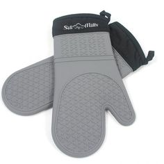 Grey Silicone Oven Mitts 1 Pair of Extra Long Professional Heat Resistant Potholder Gloves Oven Mitt Set of 2 ** Learn more by visiting the image link. (This is an affiliate link) Best Oven, Kitchen Sale, Thing 1, Oven Glove, Fun To Be One, Safe Food, Mittens, Pot Holders, Cooking