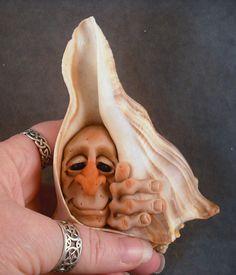 OOaK Hermit Shellfae Faery Oddfae Fairy by Schiller by oddfae, $55.00