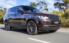 Download wallpapers Range Rover Vogue, 4k, 2018 cars, maroon Range Rover, Land Rover, SUVs, Range Rover