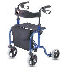Rollator aluminio con asiento y resplado extra-ancho  #ortopedia #andador #caminador #rollator #anciano #movilidad #adultos #mayores #terceraedad #salud #ortopediaparati