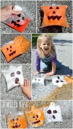 Bursting Boos and Popping Pumpkins- exploding art & science with a fun Halloween twist {Super FUN Fall activity for kids}