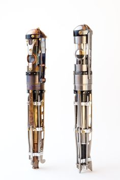 Hand-crafted steampunk fountain pens by Brian Gisi