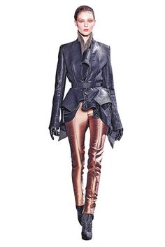 Haider Ackermann's fall collection is stunning. Gorgeous, rich fall colors, and feminine draping.  Saw this in the WSJ in an article highlighting Net a Porter's head buyer.