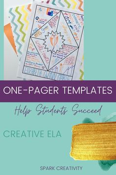 Need one-pagers templates for ELA assessments in your high school or middle school classroom? Choose creative templates for novels, poetry, nonfiction, getting-to-know-you, Ted Talks, reading profiles, and more from Spark Creativity. #onepagers #secondarlyela Middle School Classroom, High School, Ted Talks, Nonfiction, Novels, Creativity, Poetry, Student, Templates