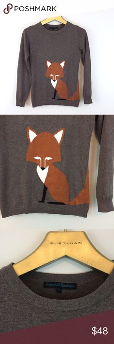 SUGARHILL BOUTIQUE Fox Character Sweater 🦊 Adorable fox sweater from ModCloth. Excellent condition! Modcloth Sweaters Crew & Scoop Necks